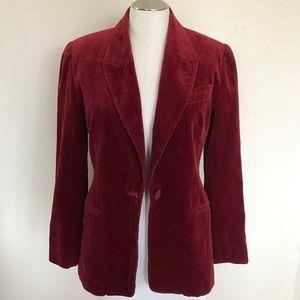 Vintage Express Red Velvet Blazer size 3/4
